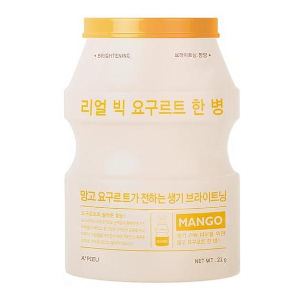 A'pieu Real Big Yogurt One-Bottle rozjaśniająca maseczka w płachcie Mango 21g