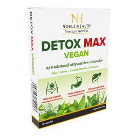 Detox max vegan suplement diety wspomagający proces detoksykacji organizmu i prawidłowe funkcjonowanie układu trawiennego 21 kapsułek