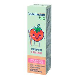 Bio kids toothpaste pasta do zębów dla dzieci 1-6 lat z naturalnym aromatem truskawki