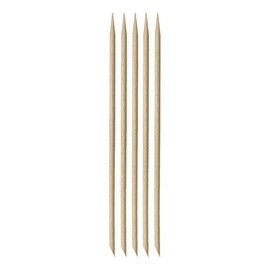 Drewniane patyczki do manicure - Krótkie prostokątne - 5 sztuk