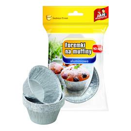 Foremki aluminiowe do pieczenia muffinek 1op.-10szt