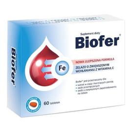 Żelazo o zwiększonym wchłanianiu z witaminą C 60 tabletek