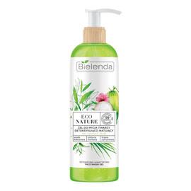 Żel do mycia twarzy detoksykująco-matujący Woda Kokosowa & Zielona Herbata & Trawa Cytrynowa
