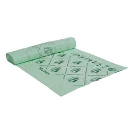 Worki na odpady organiczne i zmieszane, 100% biodegradowalne i kompostowalne 10L rolka 25 szt bez banderoli