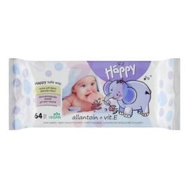 Chusteczki nasączone dla dzieci Baby Happy Allantoin + Vit. E 64 sztuki
