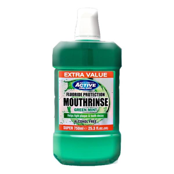 Beauty Formulas Active Oral Care Green Mint Płyn Do Płukania Jamy Ustnej 750ml