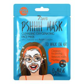 TO WALK ON AIR Oczyszczająca maska do twarzy w płachcie z węglem drzewnym