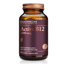 Aaktywna witamina B12 1000mcg metylokobalamina 60 Kapsułek