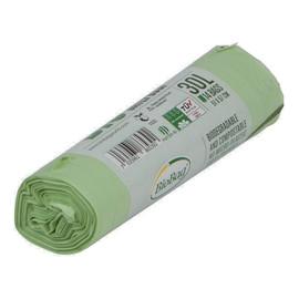 Worki na odpady organiczne i zmieszane, 100% biodegradowalne i kompostowalne,30L rolka 14 szt