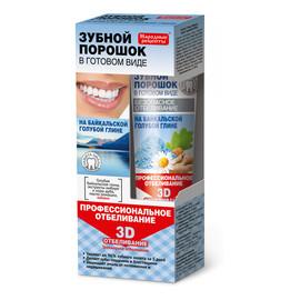 Proszek dentystyczny w postaci pasty na glince bajkalskiej