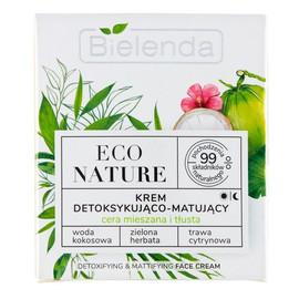 Krem do twarzy detoksykująco-matujący Woda kokosowa Trawa cytrynowa Zielona herbata cera mieszana i tłusta