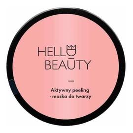 Hello Beauty Aktywny peeling maska do twarzy