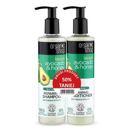 Zestaw naturalny szampon odbudowujący + odżywka Avocado