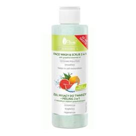 Żel myjący do twarzy + peeling 2w1 z naturalnym olejkiem grapefruitowym