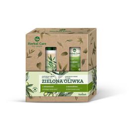 Zestaw prezentowy pielęgnacja ciała Zielona Oliwka: Krem odżywczy do ciała z witaminami 400ml + Krem odżywczy do rąk 100ml