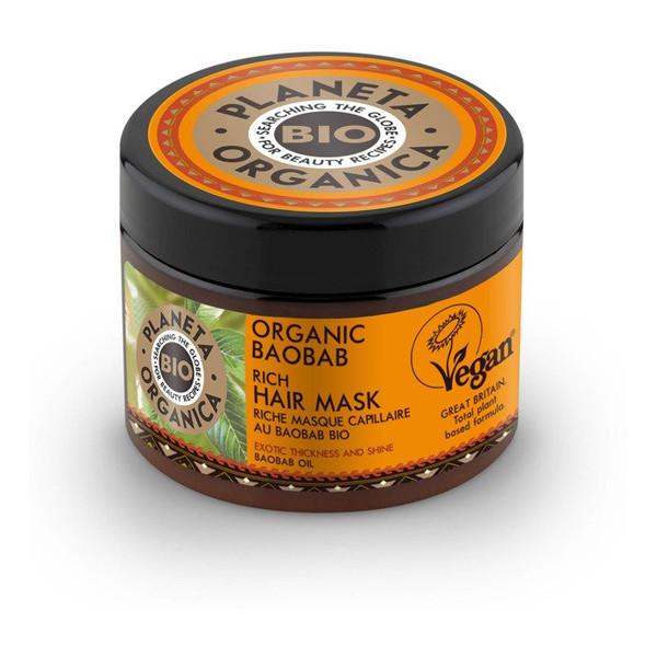 Planeta Organica Organic Baobab Maska do włosów grubość i połysk 300ml
