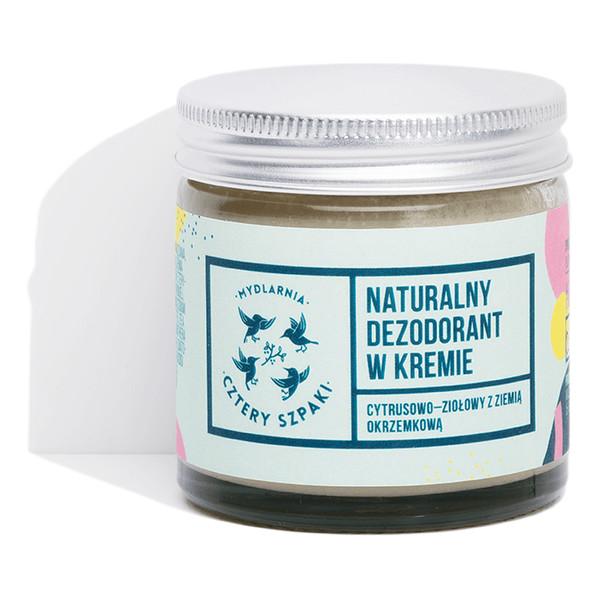 Cztery Szpaki Naturalny, Cytrusowo-Ziołowy Dezodorant w Kremie 60ml