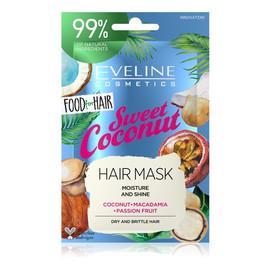 Sweet Coconut Maska do włosów normalnych i cienkich - nawilżenie i połysk