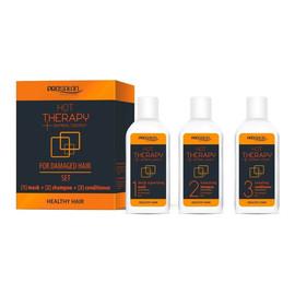 Hot Therapy maska + szampon + odżywka kuracja do włosów na gorąco 3x50g