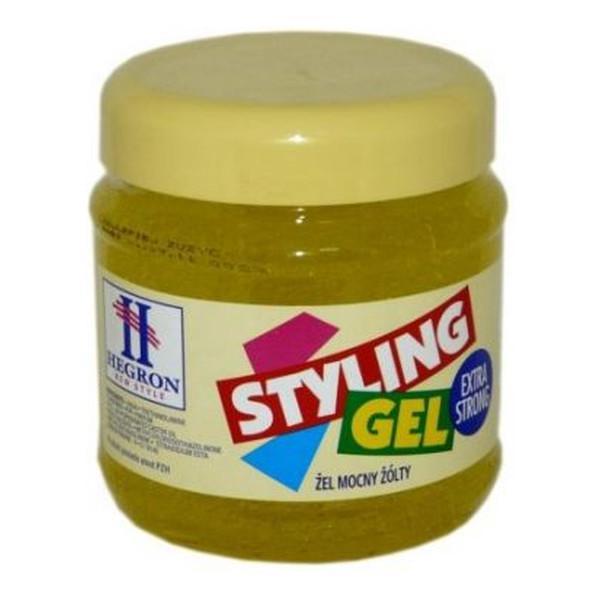 Hegron Styling Żel do modelowania włosów extra strong żółty - TENEX 1000ml