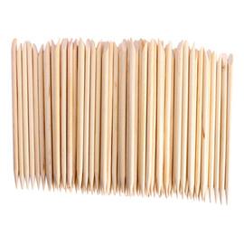 Patyczki z Drewna Pomarańczowego Do Manicure 100szt