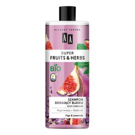 szampon dodający blasku włosy farbowane Figa & Lawenda