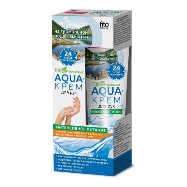 """Fitokosmetik Aqua krem do rąk na bazie wody termalnej z Kamczatki """"Intensywne Odżywianie"""" 45ml"""