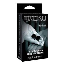 Fetish Fantasy Series Black Glass Ben-Wa Balls kulki gejszy szklane Medium