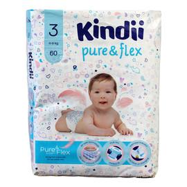 Pure & Flex Pieluchy jednorazowe 3 (4-9kg) 1op.-60szt