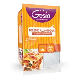 Foremka aluminiowa na lasagne i zapiekankę 21/14cm (3szt)