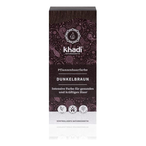 Khadi Naturalna Ziołowa Henna do Włosów Dark Brown Ciemny Brąz 100g