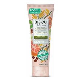 BALSAM - MASKA - WZMOCNIENIE I ANTYOKSYDACJA do włosów słabych i łamliwych/ MIX-hydrolatów, Rooibos i ekstrakt z grejpfruta, kofeina, witamina B3 - ECO - formuła