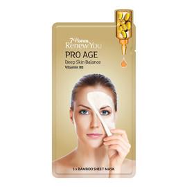 Pro Age Deep Skin Balance maseczka do twarzy w płachcie w Witaminą B5