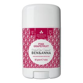 naturalny dezodorant na bazie sody sztyft plastikowy Pink Grapefruit