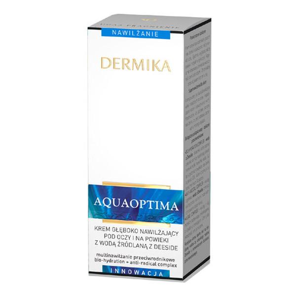 Dermika Aquaoptima Krem Głęboko Nawilżający Pod Oczy i Na Powieki 15ml