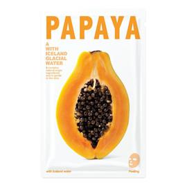 Mask A With Iceland Glacial Water wygładzająca maseczka w płacie Papaya