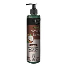 Szampon nawilżający do włosów Organiczny Kokos & Shea