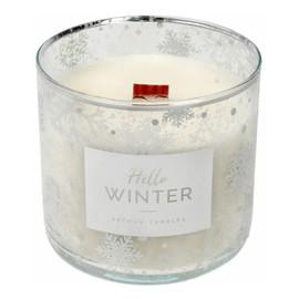 Świeca zapachowa Hello Winter biała