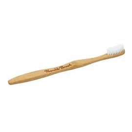 bambusowa Szczoteczka do zębów biała 19cm