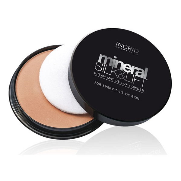Ingrid Dream Mat De Lux Mineral Silk&Lift Puder Matujący w Kamieniu 17g
