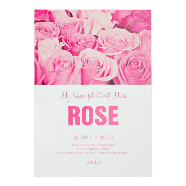 A'pieu My Skin-Fit nawilżająco-kojąca maseczka w płachcie Rose 25g