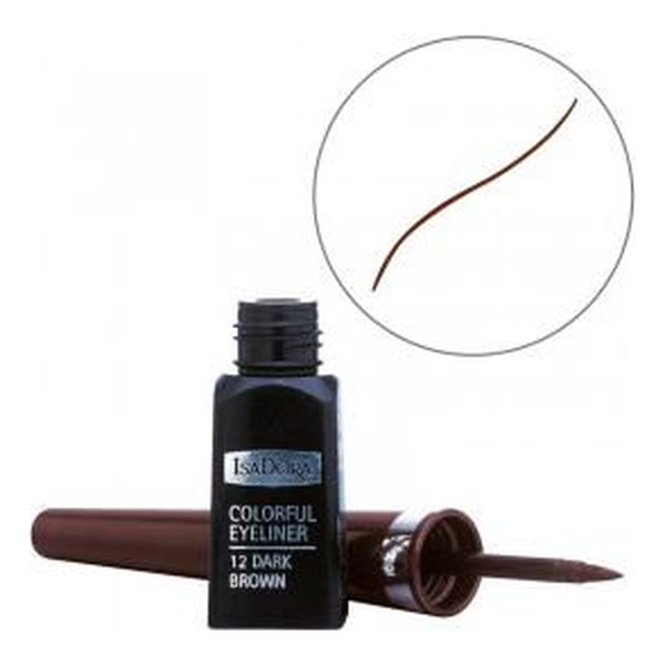 Isadora Glossy eyeliner w pędzelku 3ml