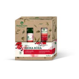 Zestaw prezentowy Herbal Care Dzika Róża (Kąpiel odżywcza 500ml+krem do rąk 100ml )