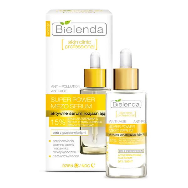 Bielenda Skin Clinic Professional Aktywne Serum Rozjaśniające Anti-Age Na Dzień i Na Noc 30ml