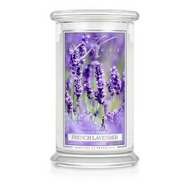 Duża świeca zapachowa z dwoma knotami french lavender