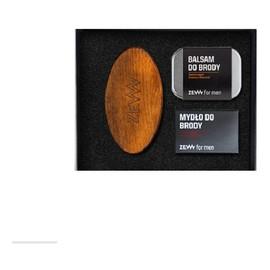zestaw( balsam do brody 80ml + mydło do brody 85ml + Szczotka Brodacza do profesjonalnej pielęgnacji zarostu)