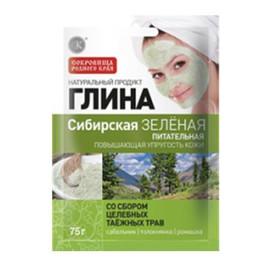Glinka Syberyjska Zielona Odżywcza - Poprawia Napięcie Skóry z Dodatkiem Ziół