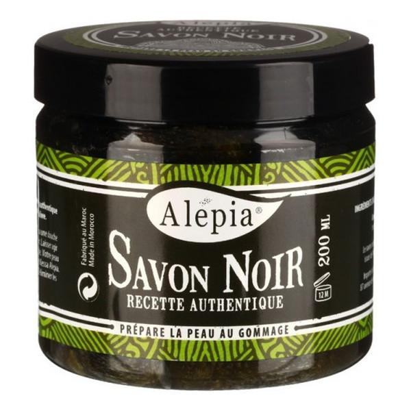 Alepia Savon Noir Czarne Mydło Peelingujące Supreme Bio 200ml
