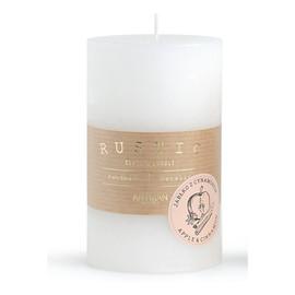 Rustic Zimowy Świeca zapachowa - walec mały biały 1 szt