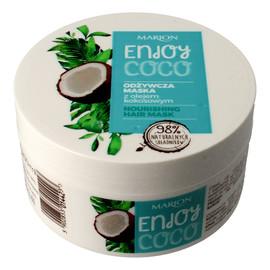 odżywcza maska do włosów z olejem kokosowym